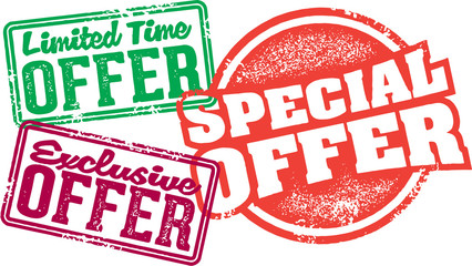 Special Limited Offer Stamps