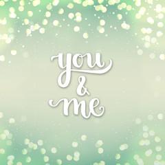 Romantic Typographic poster