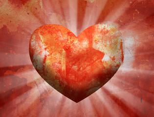 Grungy Valentine Love Heart Background