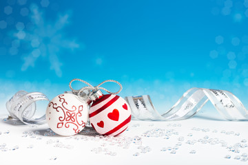 Christmas decorations, text space