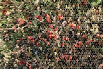 Mosaik mit Dreiecken in rot und grün
