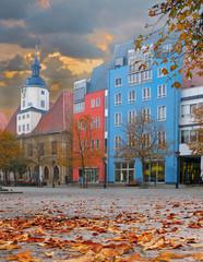 Market square in Jena, Thuringia, Germany