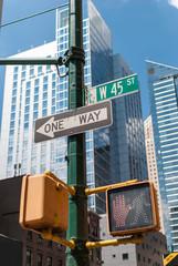 Traffic signs on Manhattan, NYC