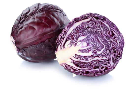 Blaukraut Rotkohl Kraut Kohl frisch geschnitten Gemüse Freistel