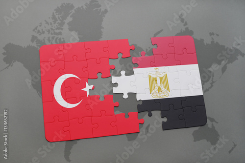 Puzzle with the national flag of turkey and egypt on a world map puzzle with the national flag of turkey and egypt on a world map gumiabroncs Choice Image