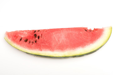 red watermelon slice isolated on white