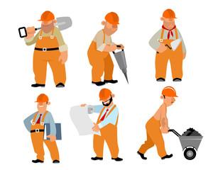 Six builders set