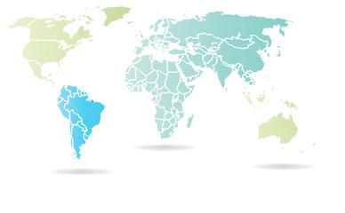 Map - Carte du Monde