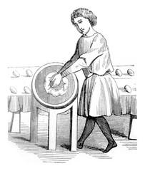 Baker, vintage engraving.