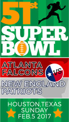 Super bowl 51 atlanta falcons new england patriots vertical