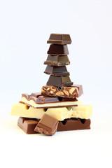 Chocolate Variety on White
