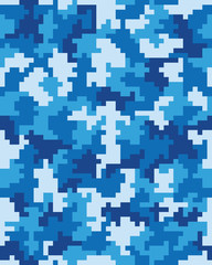 Seamless pattern of digital camouflage, vector