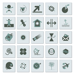 Set of signs and decorative symbols