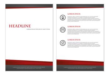 Elegant Brochure design template vector