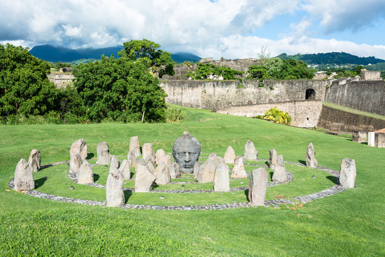 """old castle  """"fort delvers"""" of Base Terre, Guadeloupe"""