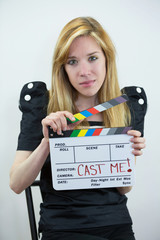 Actor With Film Slate Cast Me