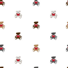 Colorful bears pattern seamless background.