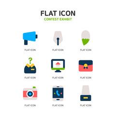 Contest Exhibit Flat Icon Set