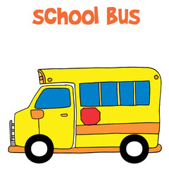 Cartoon of school bus vector