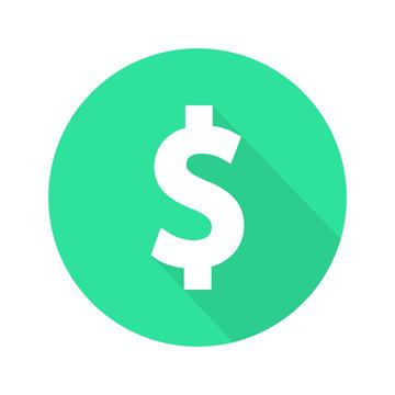 Dollar sign flat icon vector