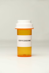 Prescription Bottle with Oxycodone Label