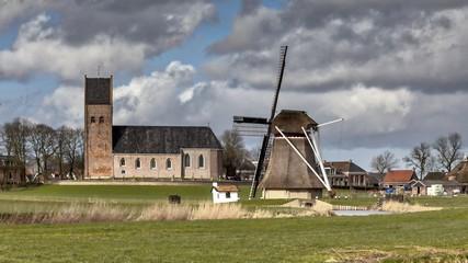 Village scene Netherlands
