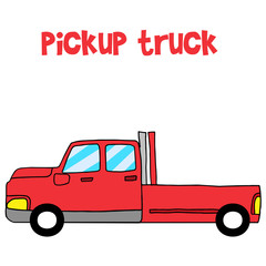 Vector art of red pickup