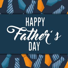 happy fathers day letters emblem and related icons image vector illustration design