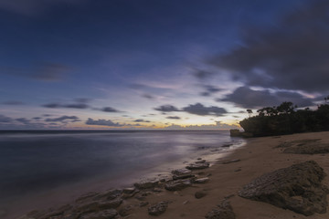 After sunset in sepanjang beach