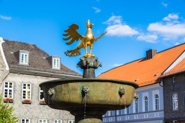 Market Fountain and golden eagle in Goslar