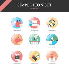 Shopping Simple Icon Set