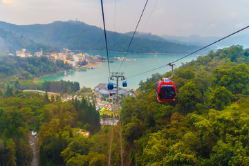 The Sun Moon Lake Ropeway is a scenic gondola cable car service that connects Sun Moon Lake with the Formosa Aboriginal Culture Village theme park.