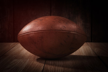 Vintage american football in the spotlight