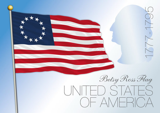 Betsy Ross US historical flag 1777
