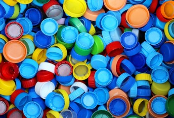 many plastic caps for recycling the material and does not pollut