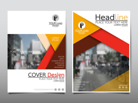 Yellow flyer cover business brochure vector design, Leaflet advertising abstract background, Modern poster magazine layout template, Annual report for presentation.