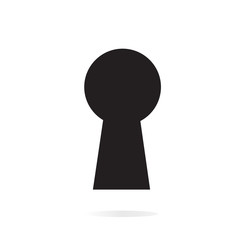 Keyhole Icon isolated on background. Modern flat pictogram, busi