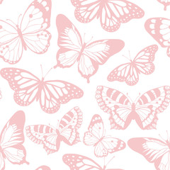 Beautiful butterfly. Vector seamless pattern