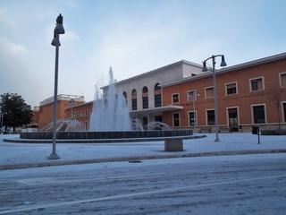 Benevento - Stazione Centrale con la neve