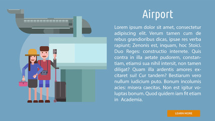 Airport Conceptual Banner
