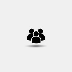 Vector group of people icon. Flat design on a white background