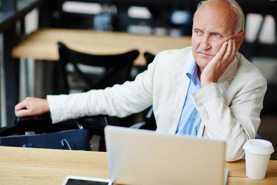 Troubled Senior Businessman