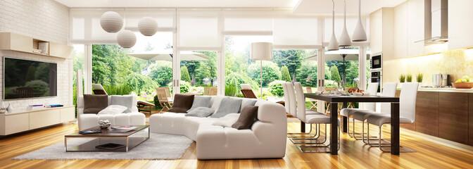 Modern interior in house