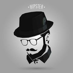 hipster wearing hat