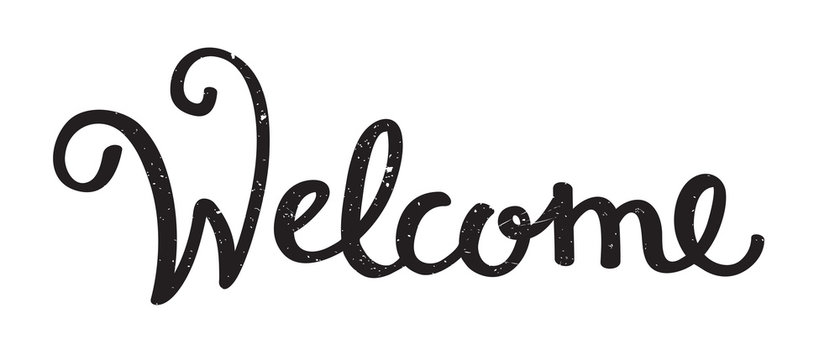 """""""WELCOME"""" in hand lettering"""
