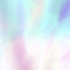 Abstract blurred holographic background in light colors