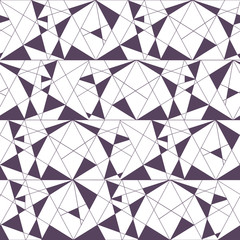 Geometric seamless black and white pattern with triangles