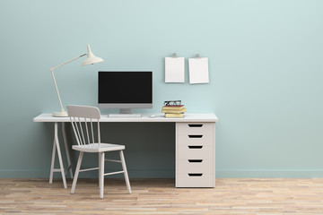 Minimal modern working space