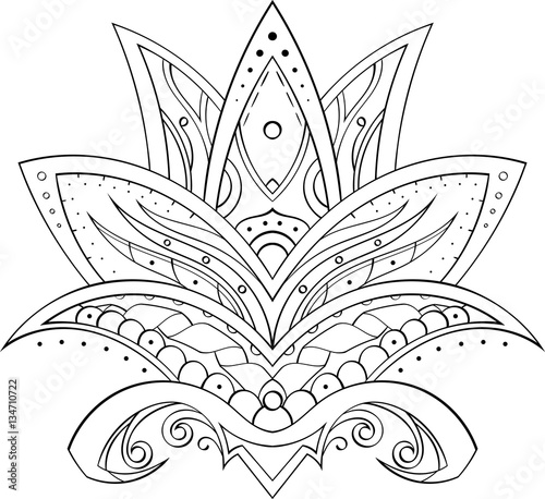 quotdrawing in mehndi style symmetrical lotus flower manual