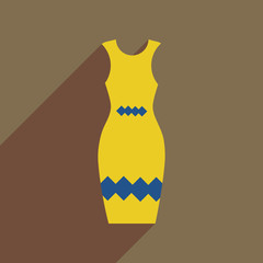 Spoed Foto op Canvas Schilderkunstige Inspiratie Flat icon with long shadow elegant dress